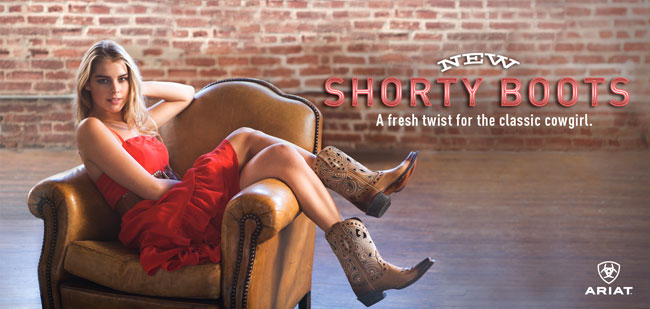 Ariat Shorty Boots - A Fresh Twist for the Classic Cowgirl