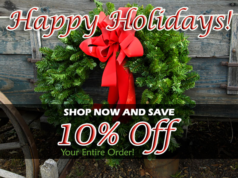 Happy Holidays - 10% OFF Your Entire Order