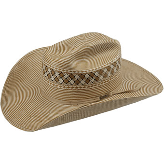 American Hat Co 15★ 1044 Two Tone Vented Straw Hat - Chocolate/Ivory