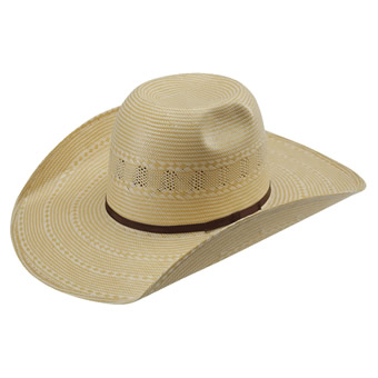 American Hat Co 15★ 1050 Two-Tone Vented Straw Hat - Wheat/Ivory