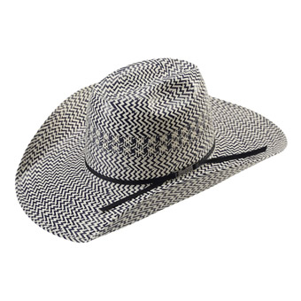American Hat Co 20★ Fancy Vent Two-Tone Straw Hat - Blue/Ivory