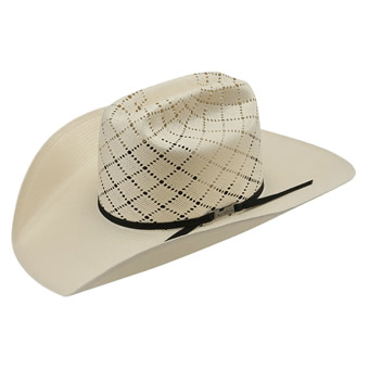 American Hat Co 20★ 5040 Patchwork Crossbred Straw Hat - White