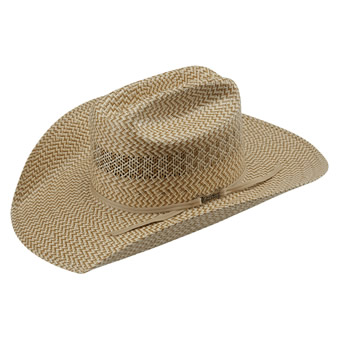American Hat Co 20★ 5525 Fancy Vent Tri-Color Straw Hat