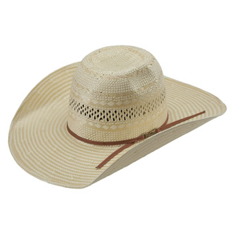 American Hat Co 845-5 Poli Rope Fancy Weave Neck Vented Straw Hat w/5 Brim