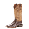 Ariat Men's Relentless Platinum Full Quill Ostrich Boots - Tobacco