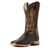 Ariat Men's Relentless Pro Caiman Belly Western Boots - Toffee/Pebbled Chocolate