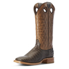 Ariat Men's Relentless Winner's Circle Caiman Belly Western Boots - Chocolate/Tough Maple