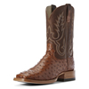 Ariat Men's Barker Full-Quill Ostrich Boots - Brandy/Autumn Tan