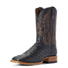 Ariat Men's Barker Full-Quill Ostrich Boots - Liberty Black