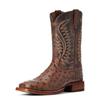 Ariat Men's Gallup Full-Quill Ostrich Boots - Mocha/Dusted Wheat