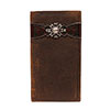 Ariat Premium Leather Rodeo Wallet w/Rowel Concho