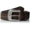 Ariat Men's Barbed Wire Stitched Leather Belt - Brown