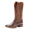 Ariat Men's Double Down Caiman Belly Boots - Antique Pecan/Chestnut