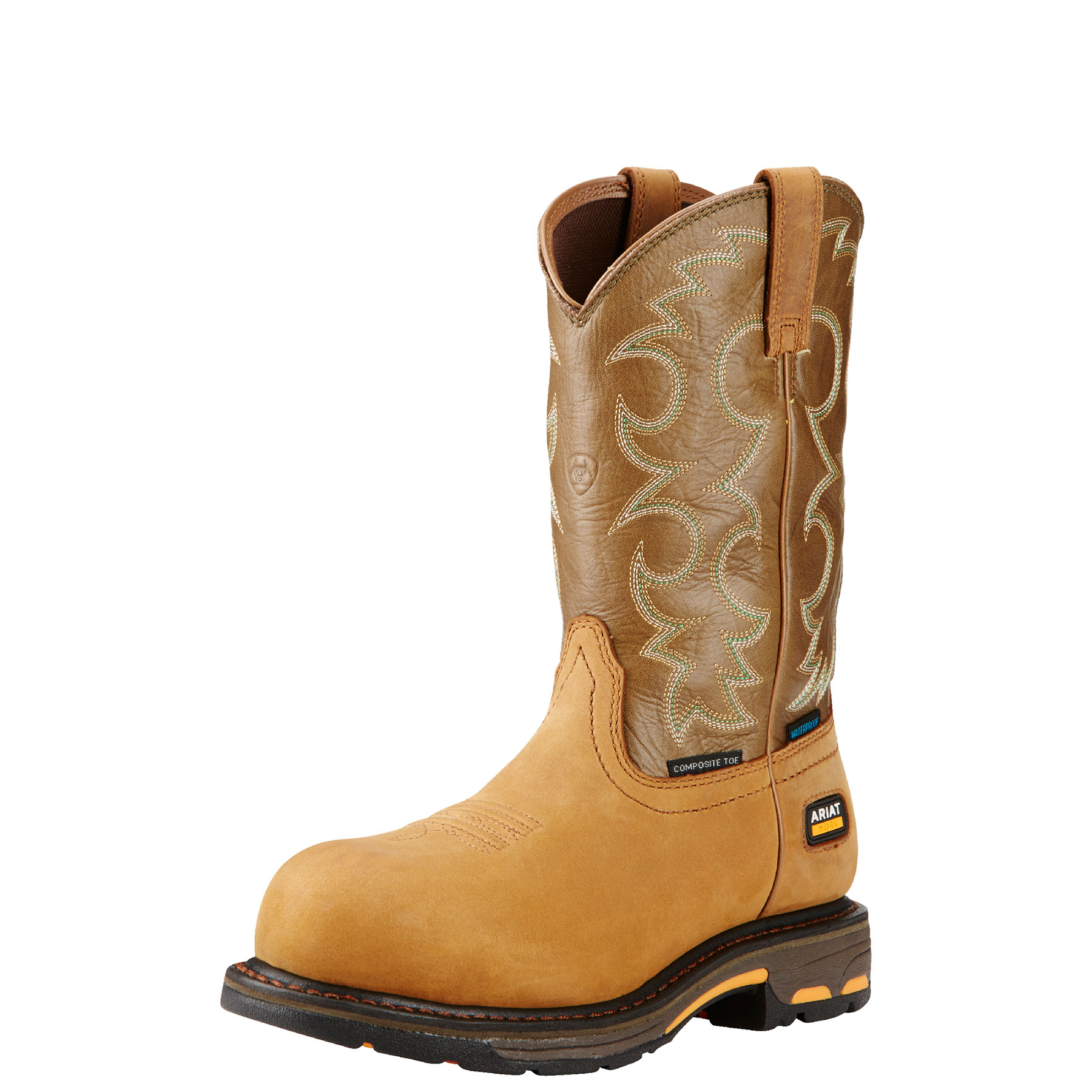 pungo ridge ariat s workhog pull on h2o work boots