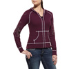 Ariat Women's Stud Zip Hoodie - Blackberry
