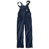 Carhartt Women's Denim Bib Overalls - Faded Blue Indigo