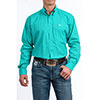 Cinch Men's L/S Print Button-Down Shirt - Turquoise