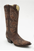 Corral Women's Snip Toe Full Stitch Boots - Brown