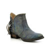Circle G Women's Fringe Shortie Boots - Deniro Blue