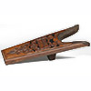 Corral� Wooden Boot Jack w/ Tooled Leather Facing