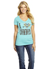 Cowgirl Up Ladies I ♥ Cowboys V-Neck Tee