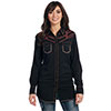 Cowgirl Up Ladies L/S Black Light Wash Woven Shirt