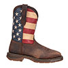 Durango Men's Flag Work Steel Toe Boots - Brown