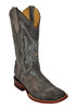 Ferrini Men's Cowhide Square Toe Western Boots - Grey