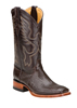 Ferrini Ladies Lizard Square Toe Western Boots - Chocolate