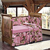 Baby Pink Camo 4-Piece Crib Set