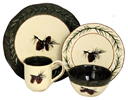 16-Piece Pine Cone Dinnerware Set