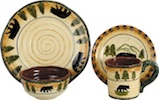16-Piece Bear Dinnerware Set