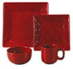 Savannah 16-Piece Dinnerware Set - Red