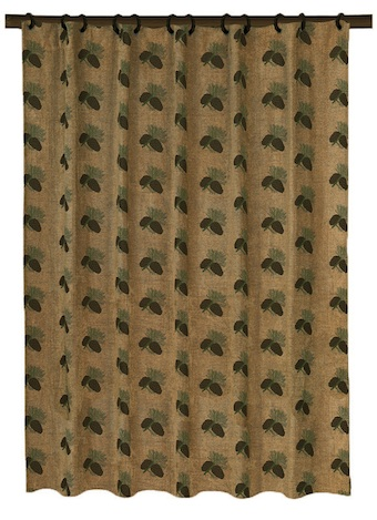Pinecone Fabric Bathroom Decor Shower Curtain Pine Cone Lodge