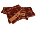 Embroidered Pine Cone Plaid Towel Set