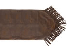 Faux Leather Table Runner w/Fringe