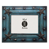 Rustic Distressed Wood Frame - Turquoise