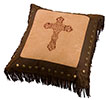 Embroidered Cross Square Pillow