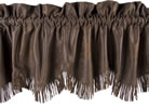 Luxury Faux Leather Valance w/ Fringe