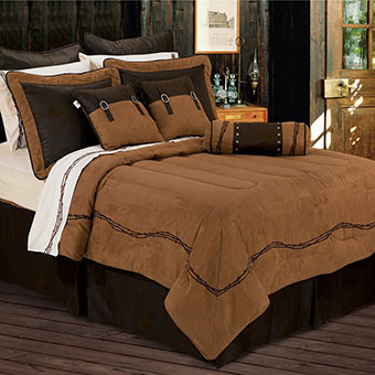 Embroidered Barbed Wire Comforter Set