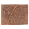 Hooey Embossed Bi-Fold Wallet - Brown