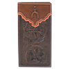 Punchy Signature Tooled Leather Rodeo Wallet - Brown