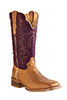 Old West Outlaw Men's Square Toe Boots - Tan/Grapewood
