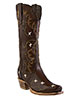 Old West� Outlaw Women's Narrrow Square Toe Tri-Ad Boots � Espresso