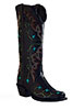 Old West� Outlaw Women's Narrrow Square Toe Tri-Ad Boots � Black