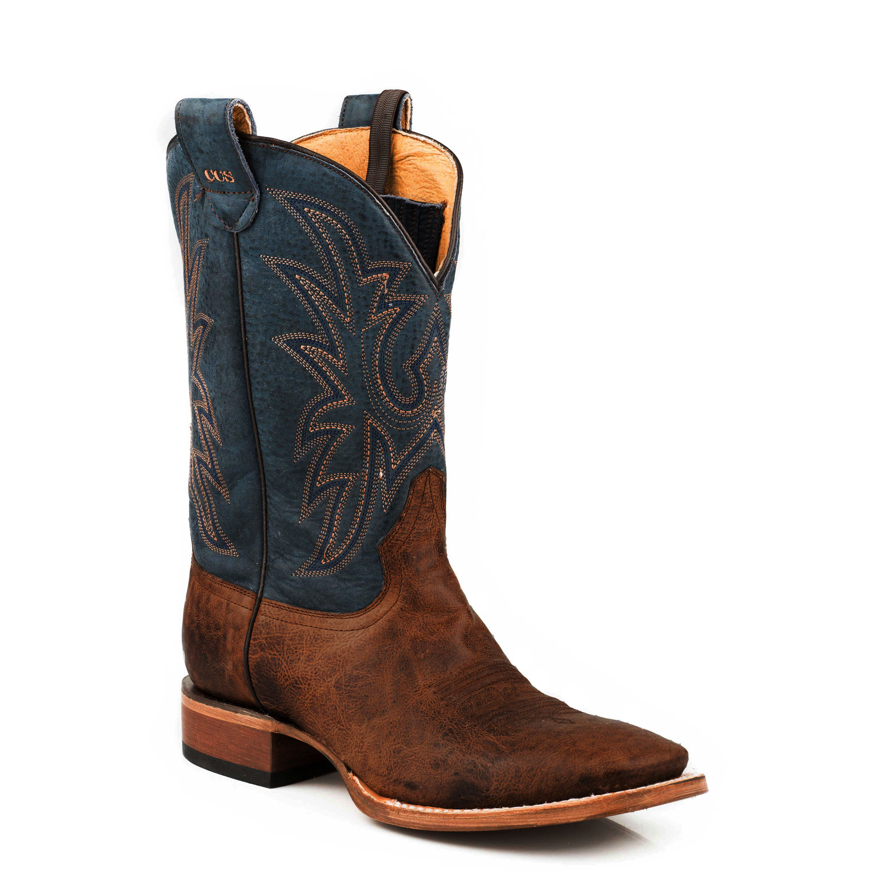 7940d09f8f4 Roper Men's Pierce Concealed Carry Boots - Crater Tan/Blue