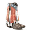 Roper Ladies American Beauty Fringe Boots