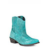 Roper Ladies Suede Print Ankle Boots - Turquoise