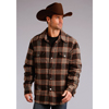 Stetson Men's Plaid Quilted Shirt Jacket - Brown