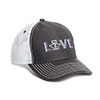 Tin Haul Gal's Love Baseball Cap - Charcoal/White